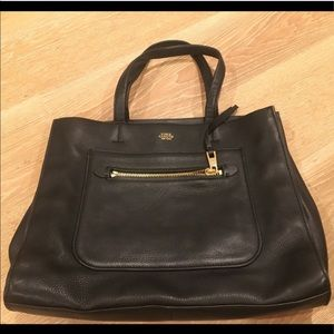 Vince Camuto Black Pebbled Leather Tote